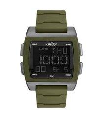 relógio masculino condor digital + fone de ouvido - cobj2649alk6v chumbo