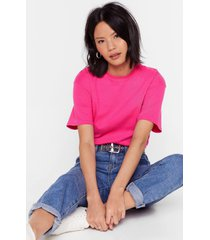 womens face the facts relaxed tee - pink