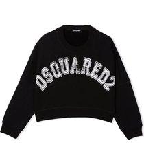 dsquared2 black cotton sweatshirt