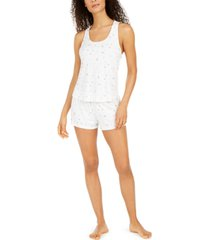 flora by flora nikrooz printed knit tank & shorts pajama set