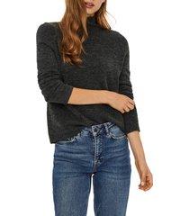 women's vero moda avery funnel neck sweater, size medium - grey
