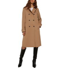 marella cheque double-breasted trench coat