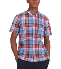 barbour men's regular-fit madras plaid shirt