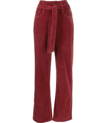 3x1 kelly belted high-waist jeans - red