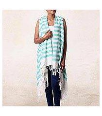 cotton beach kimono, 'beach lover in mint' (india)