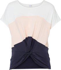 maglia con drappeggio (bianco) - bodyflirt