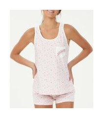 pijama espaço pijama regata feminino