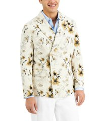inc men's slim-fit double breasted floral blazer, created for macy's