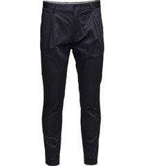 pavet_stretch satin kostymbyxor formella byxor svart calvin klein