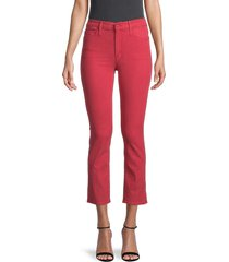 mother women's cropped jeans - fruit punch - size 23 (00)