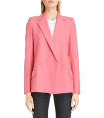 women's givenchy double breasted lightweight wool jacket, size 12 us - pink
