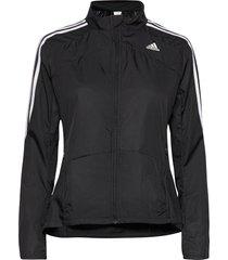 marathon 3-stripes jacket w outerwear sport jackets zwart adidas performance
