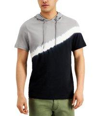 inc men's diagonal colorblocked hoodie, created for macy's