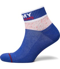 th unisex tommy jeans quarter 1p me lingerie socks regular socks blå tommy hilfiger