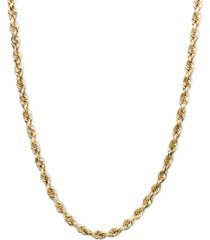 "14k gold necklace, 24"" rope chain (1-3/4mm)"
