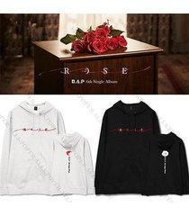 kpop bap rose cap hoodie sweater b.a.p sweatershirt daehyun coat jong up