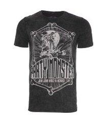t-shirt masculina skull skate - preto