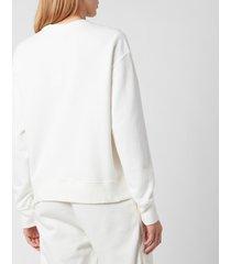 polo ralph lauren women's crest logo sweatshirt - deckwash white - m