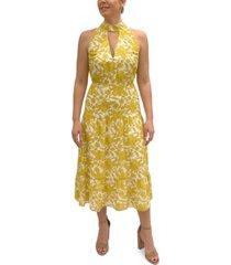 sam edelman printed halter maxi dress
