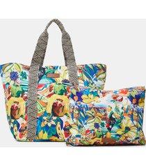 beach bag reversible - material finishes - u