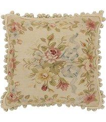 almofada aubusson flores 4 - 50 x 50