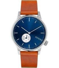 reloj analogo winston subs blue cognac komono