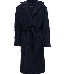 hooded robe, blu, s- morgonrock badrock blå calvin klein