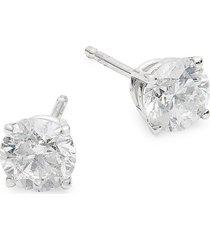 diana m jewels women's 14k white gold & 1 tcw diamond stud earrings