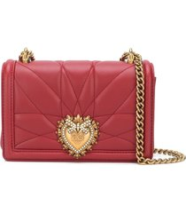 dolce & gabbana small devotion crossbody bag - red