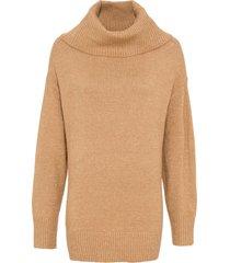 maglione oversize con paillettes (marrone) - bodyflirt