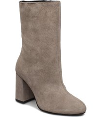 biacandice suede tube boot shoes boots ankle boots ankle boot - heel beige bianco