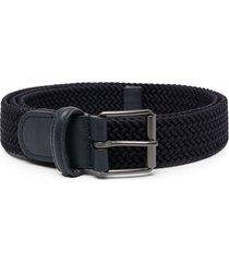 anderson's woven strap belt - blue