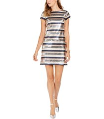 vince camtuo sequined striped bodycon dress