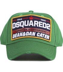 dsquared2 green cotton dsq2 hat
