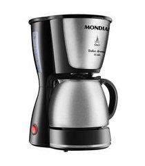 cafeteira elétrica mondial dolce arome inox 15 xícaras preta