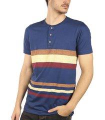 camiseta estampada azul navy ref.108021019