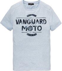 vanguard t-shirt print lichtblauw vtss194696-5068 licht blauw