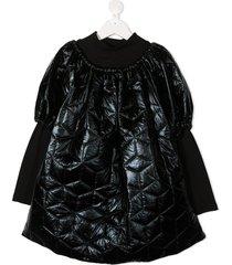 andorine teen oversized puffer dress - black