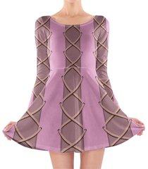 rapunzel corset dress longsleeve skater dress