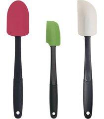 conjunto de 3 espátulas coloridas em silicone oxo