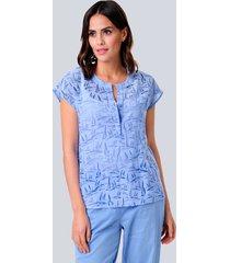 blouse alba moda lichtblauw