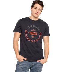 camiseta azul-blanco-rojo jack & jones
