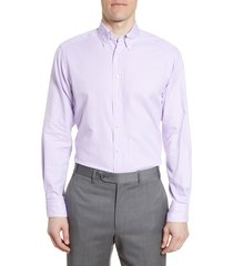 men's big & tall eton soft casual line contemporary fit oxford casual shirt, size 18 - purple