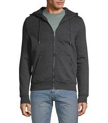 faux fur-lined zip hoodie