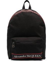 alexander mcqueen man black metropolitan selvedge backpack