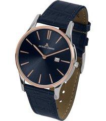 reloj 1-1936g masculino azul jacques lemans