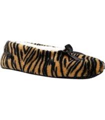 gold toe women's cozy animal print slipper socks