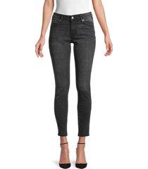 true religion women's jennie skinny ankle jeans - washed black - size 32 (10-12)