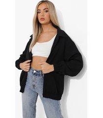 oversized coach jas, black