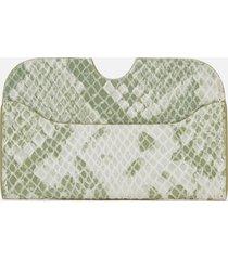 núnoo women's carla snake card holder - light green